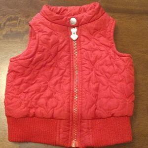 Koala Kids Heart Pattern Red Vest 12 Months